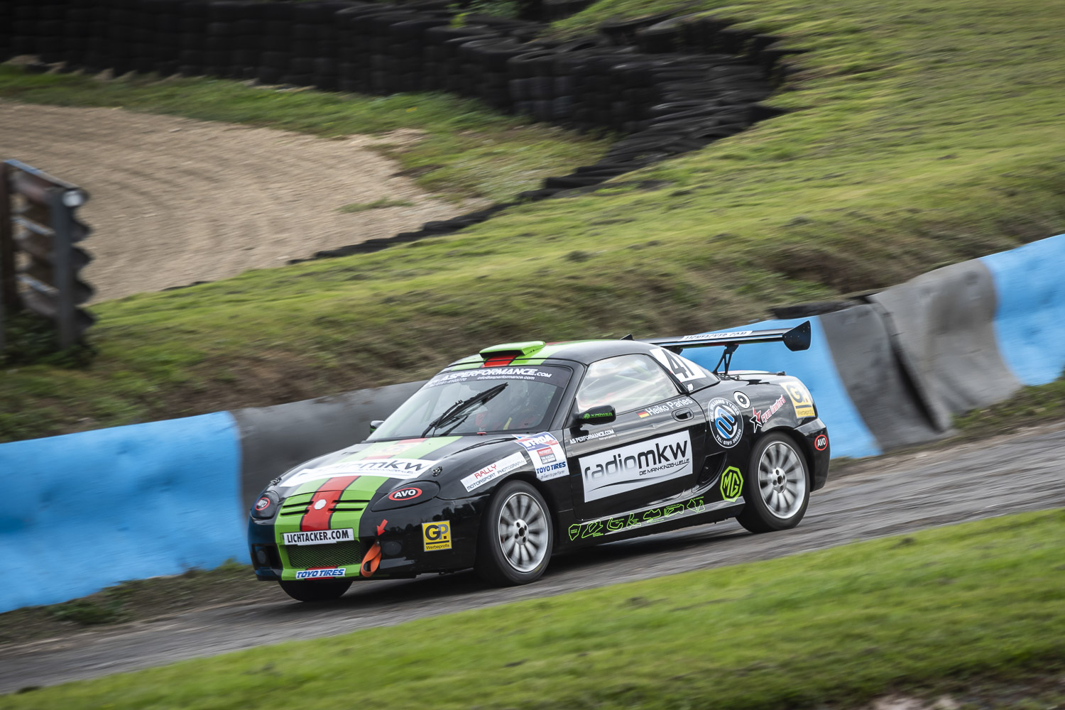 Heiko Paries International Rallycross with the unique MG TF160 RX at Lydden Hill Race Circuit